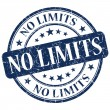 Stock Photo: No Limits Blue Stamp