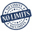 No Limits Blue Stamp — Stock Photo