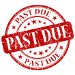 Past Due Red Stamp — Stock Photo