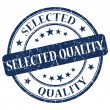 Stock Photo: Selected Quality Blue Stamp