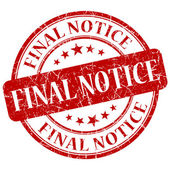 Final Notice Red Stamp — Stock Photo