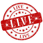 Live Red Stamp — Stock Photo