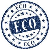 Eco blauwe stempel — Stockfoto