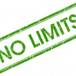 Stock Photo: No limits green square stamp