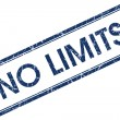 Stock Photo: No limits blue square stamp
