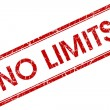 Stock Photo: No limits red square stamp