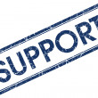 Stock Photo: Support blue square stamp