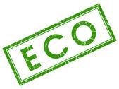 Eco green square stamp — Stock Photo