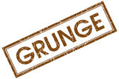 Grunge brown square stamp — Stock Photo