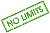 No limits green square stamp — Stock Photo