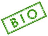 Bio green square stamp — Stock Photo