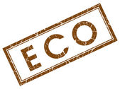 Eco brown square stamp — Stock Photo