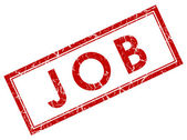 Job red square stamp — Stock Photo