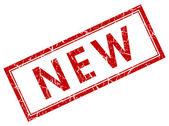 Yeni kırmızı kare pul — Stok fotoğraf
