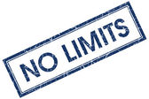 No limits blue square stamp — Stock Photo