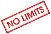 No limits red square stamp — Stock Photo