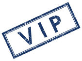 Vip blue square stamp — Stock Photo