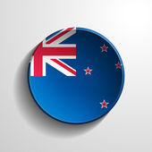 New Zealand 3d Round Button — Stock Photo