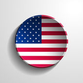 USA 3d Round Button — Stock Photo