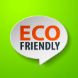 Eco Friendly 3d Speech Bubble on Green background — Stock Vector