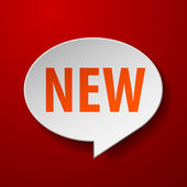 New 3d Speech Bubble on Red background — Stock Vector