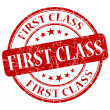 First Class Red grunge stamp — Stock Photo #30507727
