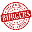 Burgers red grunge stamp — Stock Photo