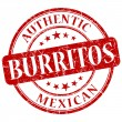 Burritos red grunge stamp — Stock Photo
