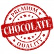 Chocolate red grunge stamp — Stock Photo