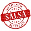 Salsa red grunge stamp — Stock Photo