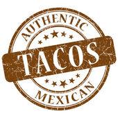 Tacos kahverengi grunge damgası — Stok fotoğraf