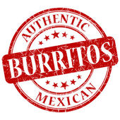 Burritos red grunge stamp — Stock Photo