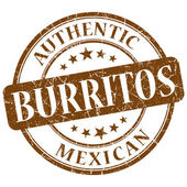 Burritos brown grunge stamp — Stock Photo