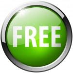 Free Round Green Metal Shiny Button — Stock Photo