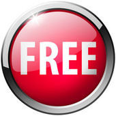 Free Round Red Metal Shiny Button — Stock Photo
