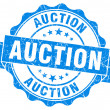 Stock Photo: Auction grunge blue stamp