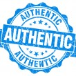 Authentic grunge blue stamp — Stock Photo #30795137