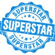 Superstar grunge blue stamp — Stock Photo