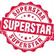 Superstar grunge red stamp — Stock Photo
