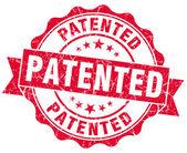 Patented grunge red stamp — Stock Photo