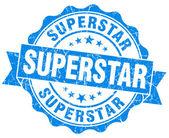 Superstar grunge blue stamp — Stock Photo
