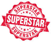 Superstar grunge red stamp — Stock Photo