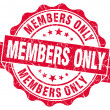 Stock Photo: Members only grunge red stamp