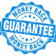 Money back guarantee grunge blue stamp — Stock Photo #30857171