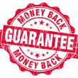 Money back guarantee grunge red stamp — Foto Stock