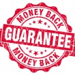 Money back guarantee grunge red stamp — Stockfoto