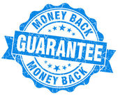 Geld terug garantie grunge blauwe stempel — Stockfoto