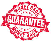 Money back guarantee grunge red stamp — Stock Photo