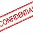 Stock Photo: Confidential red square stamp