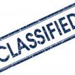 Stock Photo: Classified blue square stamp